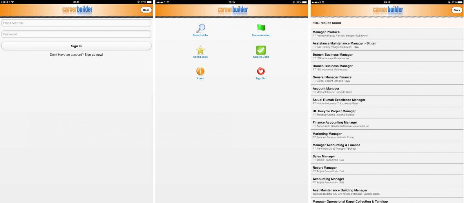 Android Careerbuilder, app de trabajo