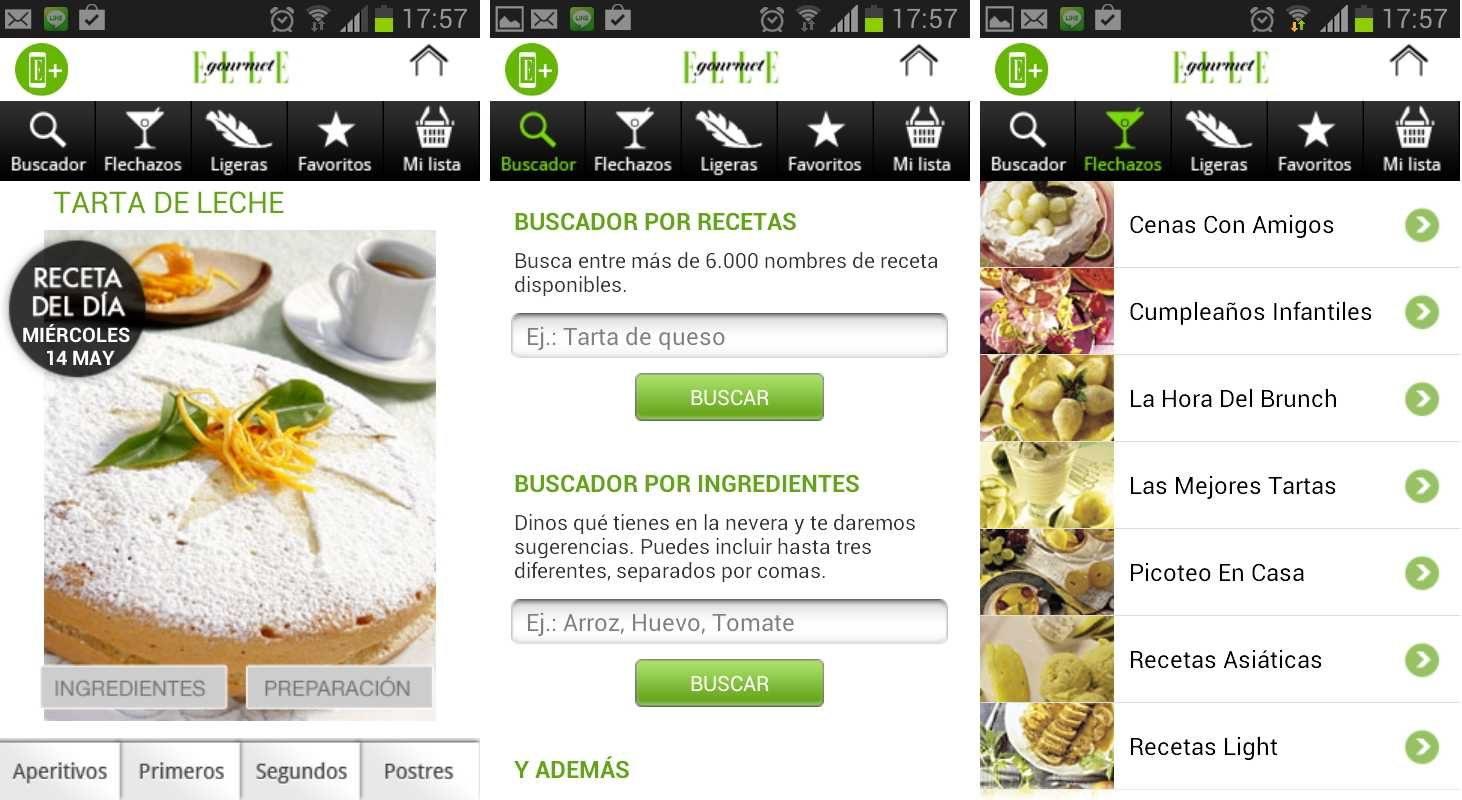 Aplicación Android para cocinar ELLE Gourmet