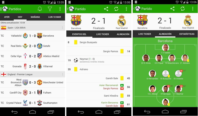 Aplicación de noticias de fútbol Onefootball