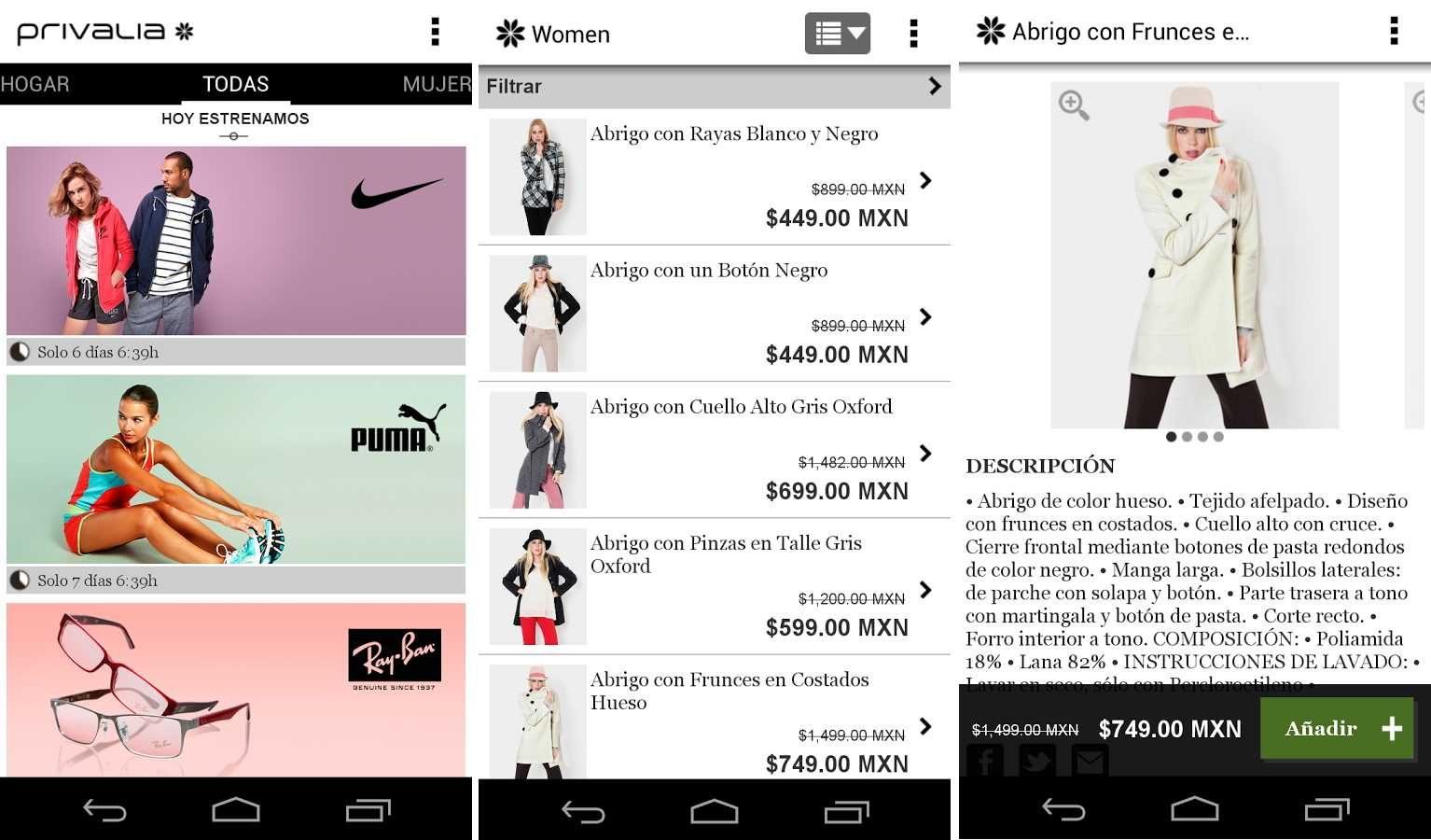 Las 7 mejores aplicaciones para ir de compras con tu android for Compra de vajillas online