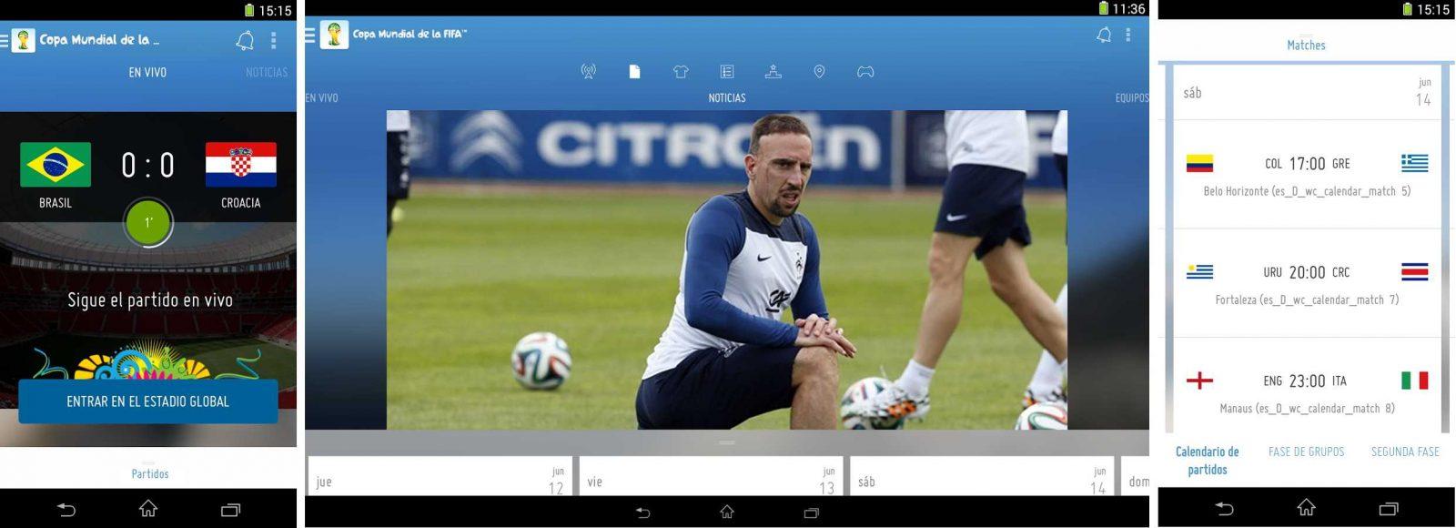 App de fútbol Android FIFA Official