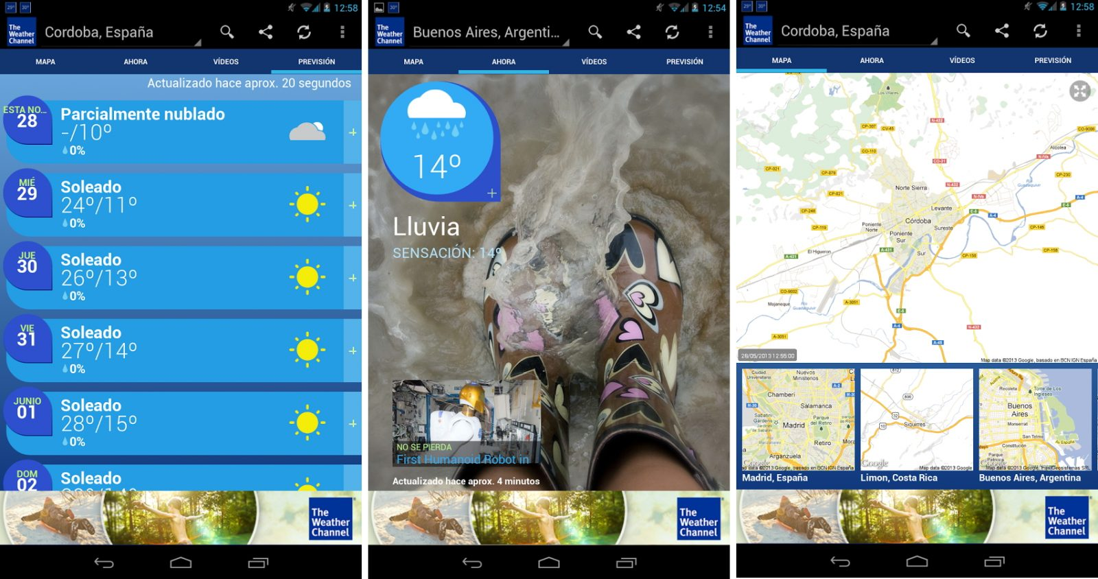 App de meteorología Android The Weather Channel