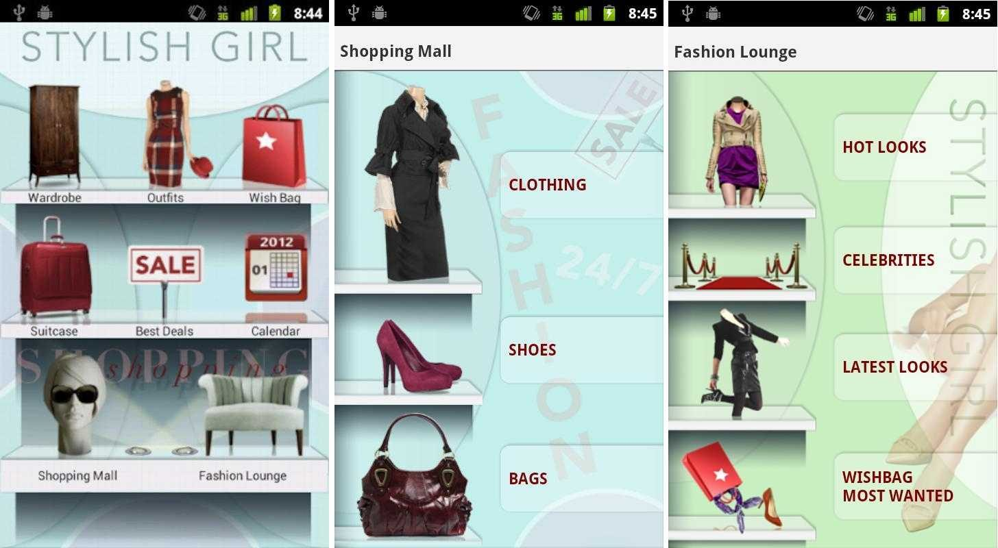 App de moda para Android Stylish Girl
