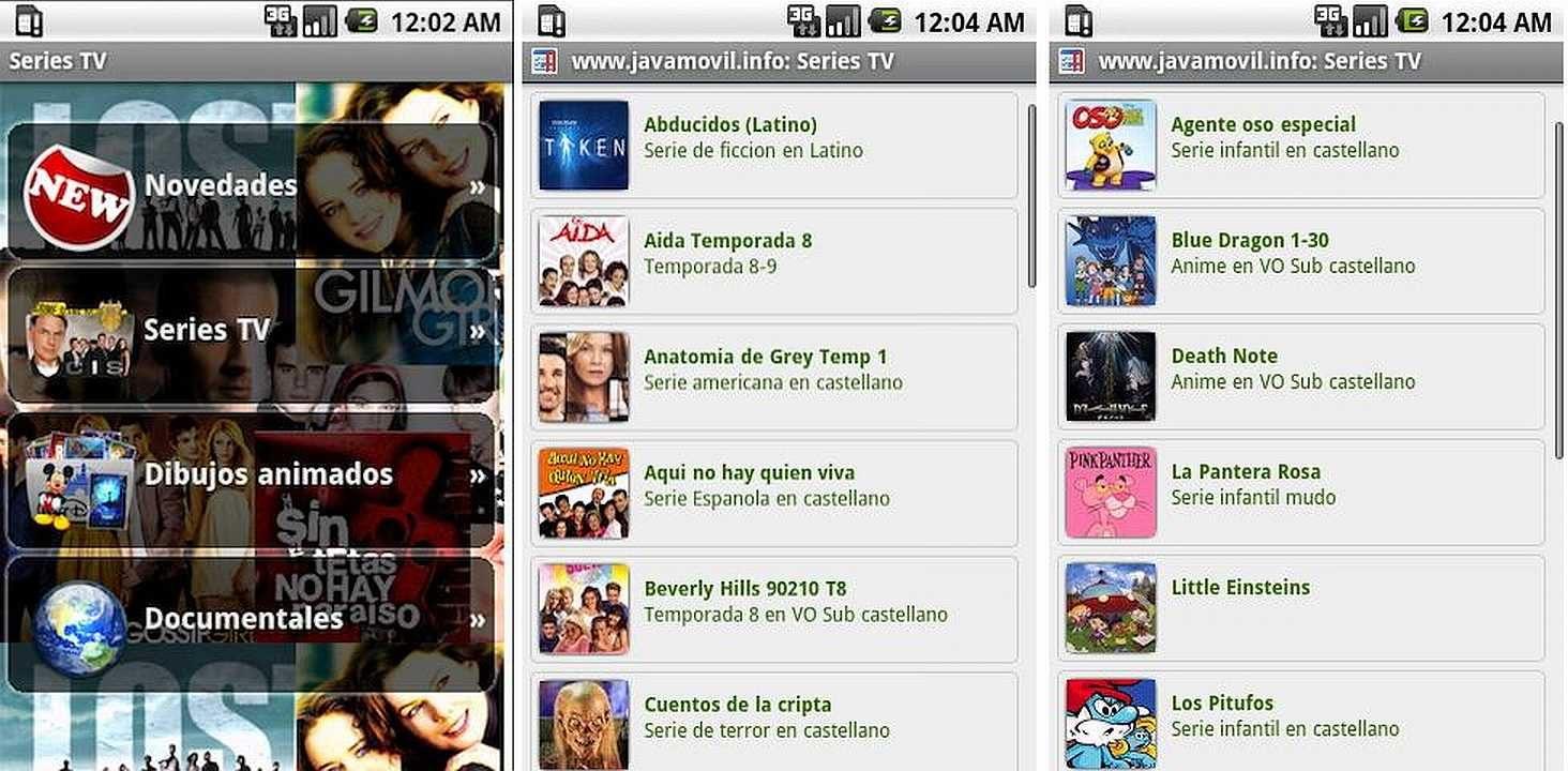 App en Android para ver filmes Series TV :: Imágenes y fotos