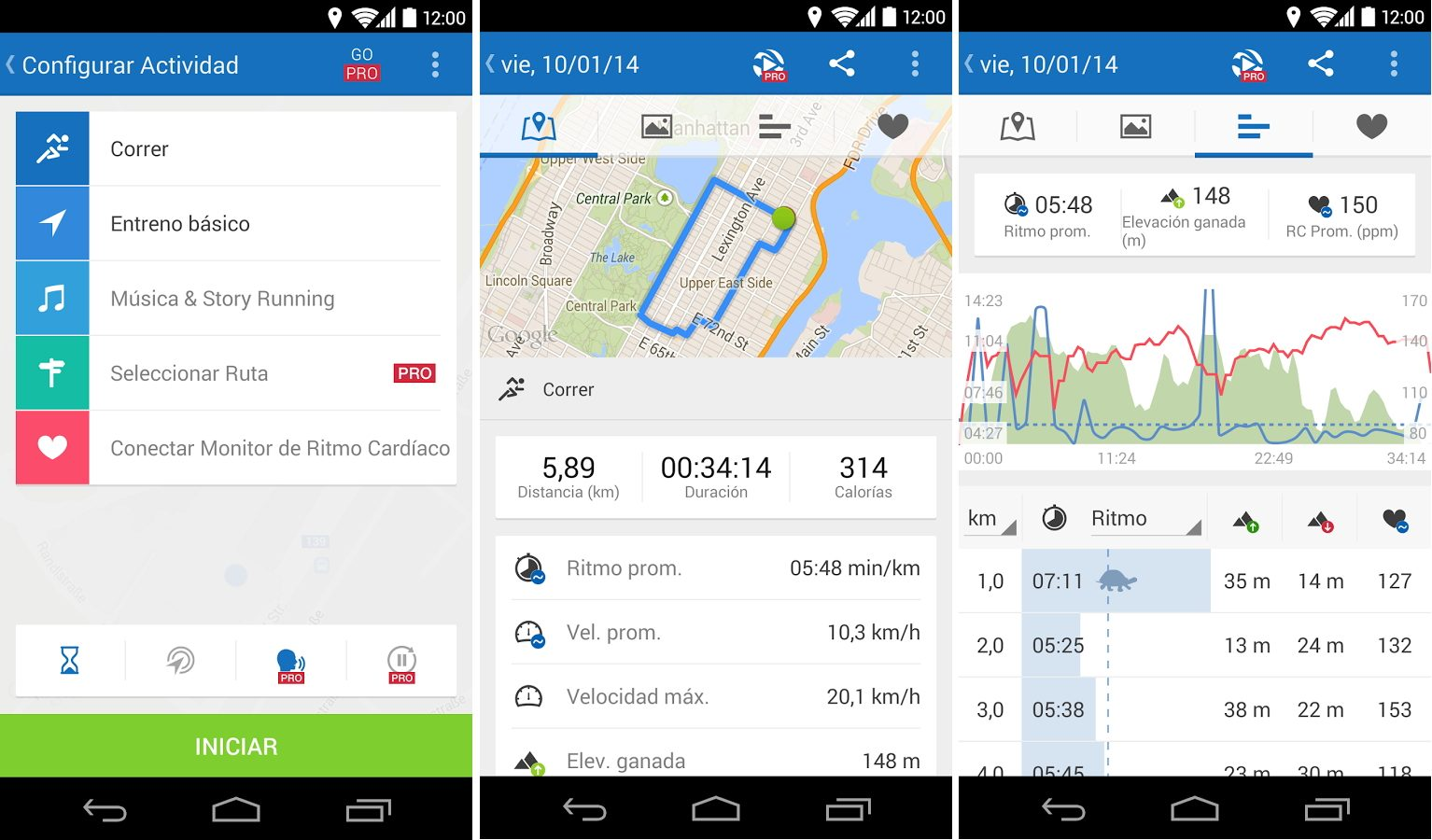 App para correr Android Runtastic
