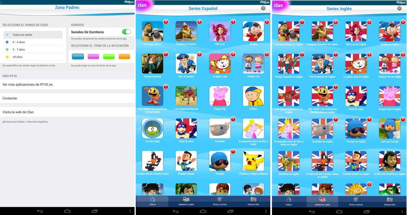 App para niños Clan en RTVE