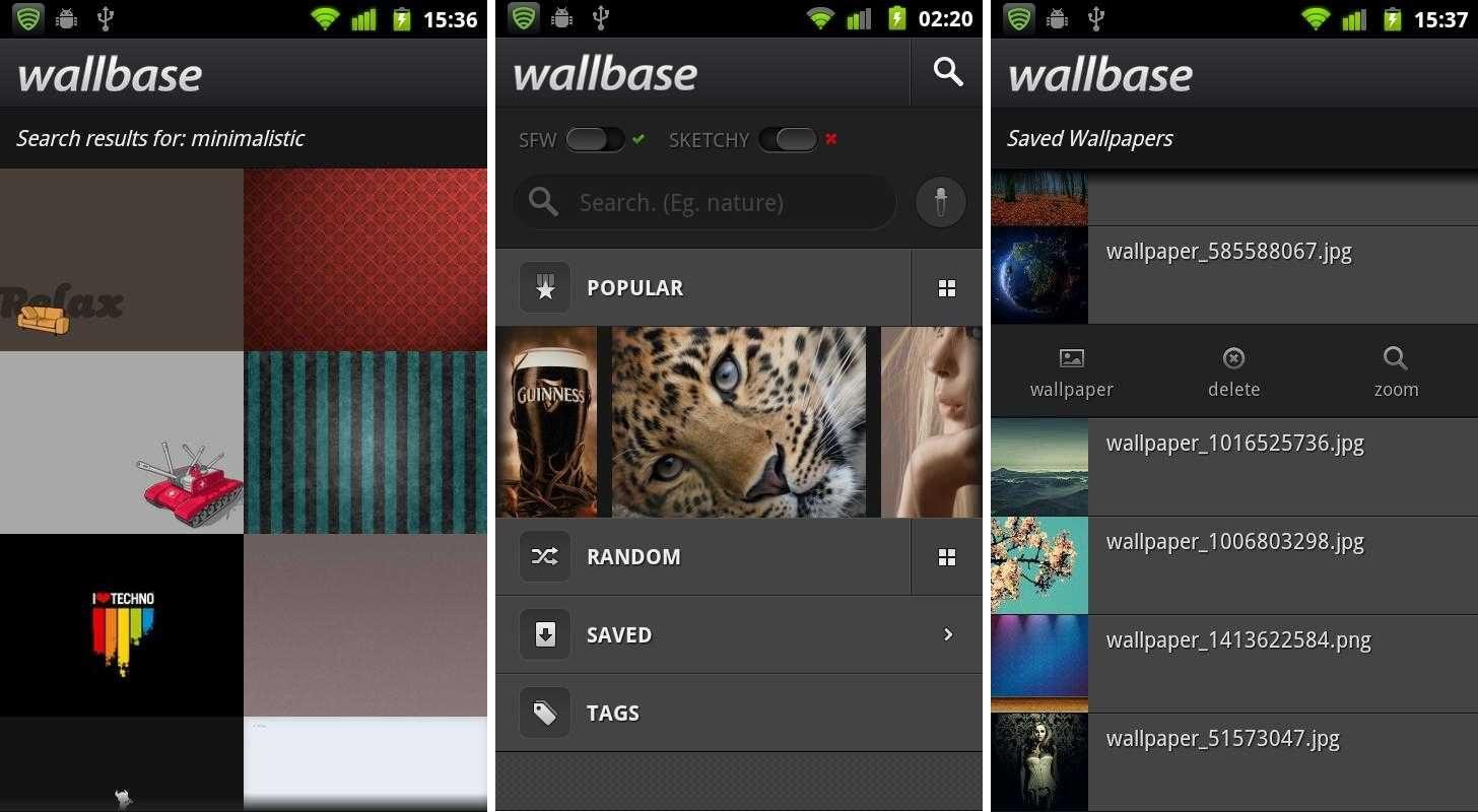 Las 8 mejores apps de fondos de pantalla android de 2017 - App Wallbase Para Android