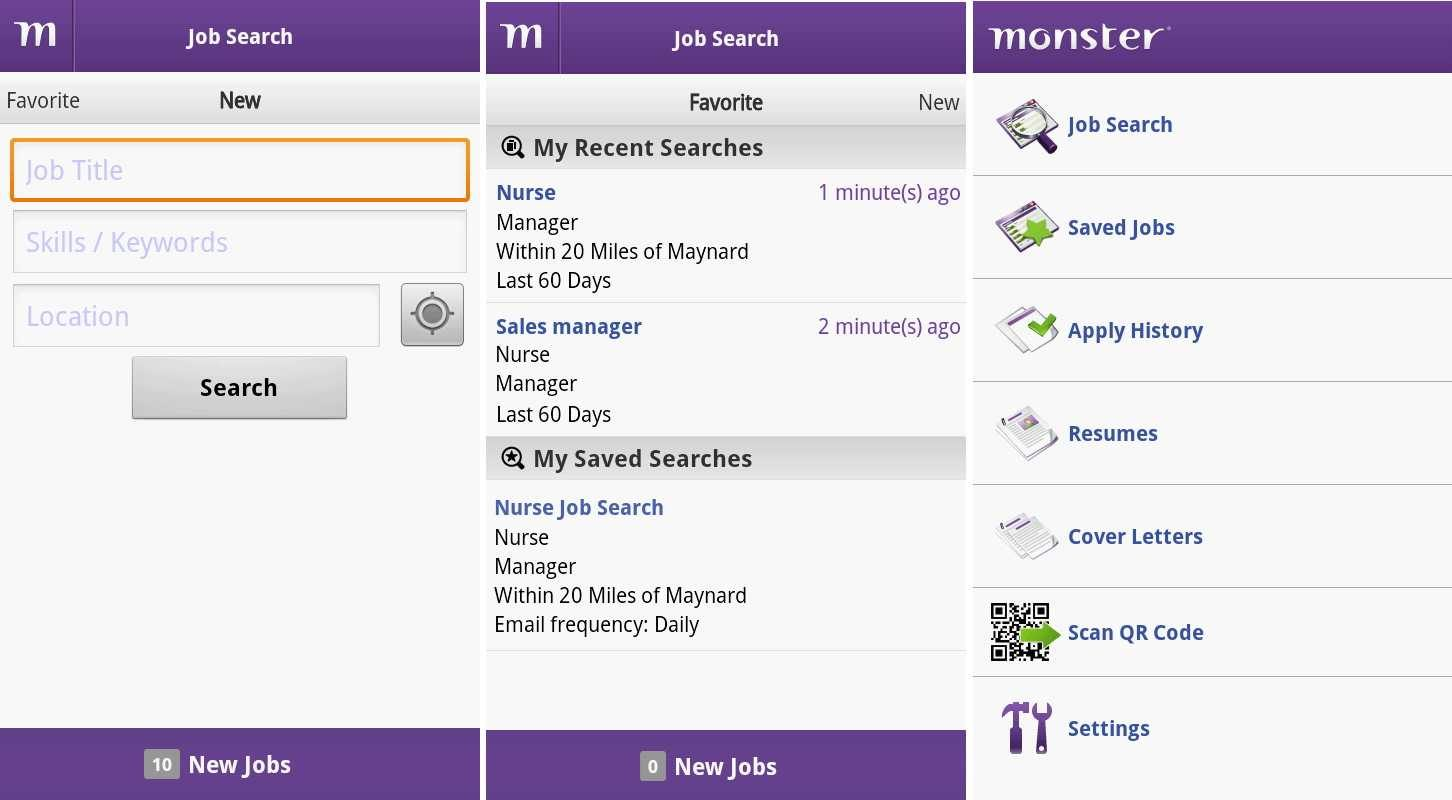 Busca trabajo en Android con Monster