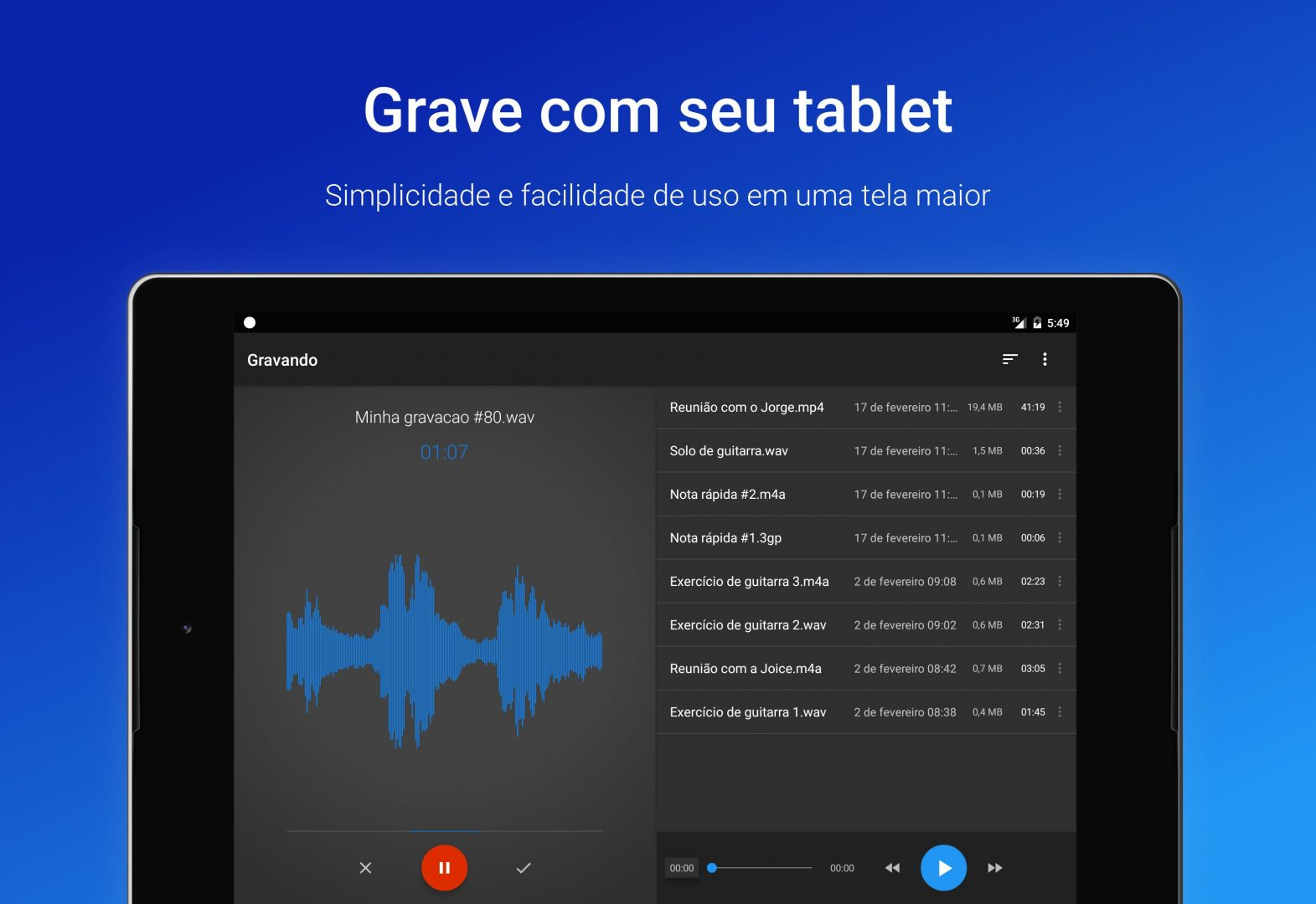 Grabadora Easy Voice Recorder para Android