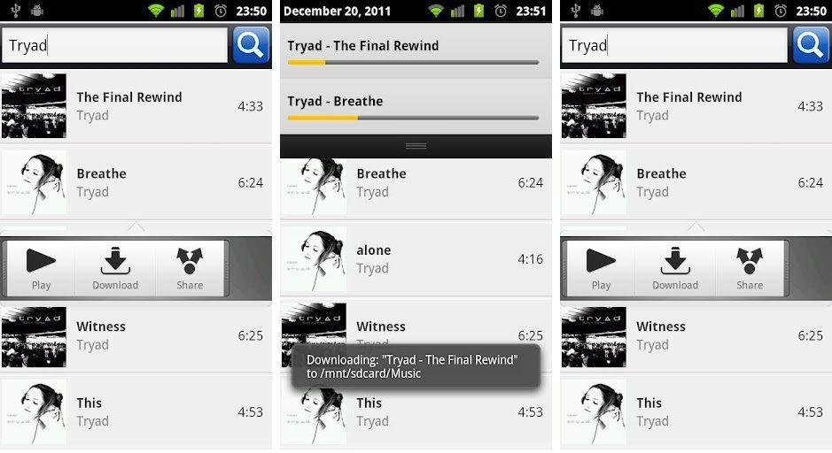 Mejores aplicaciones para descargar música Android