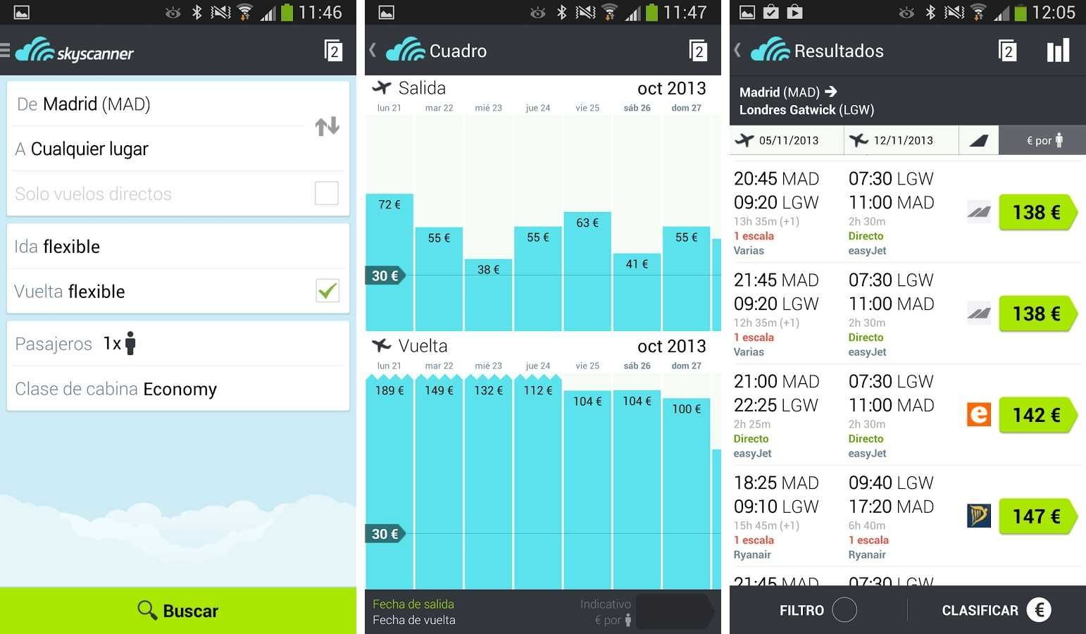 Mejores apps Android para encontrar vuelos baratos