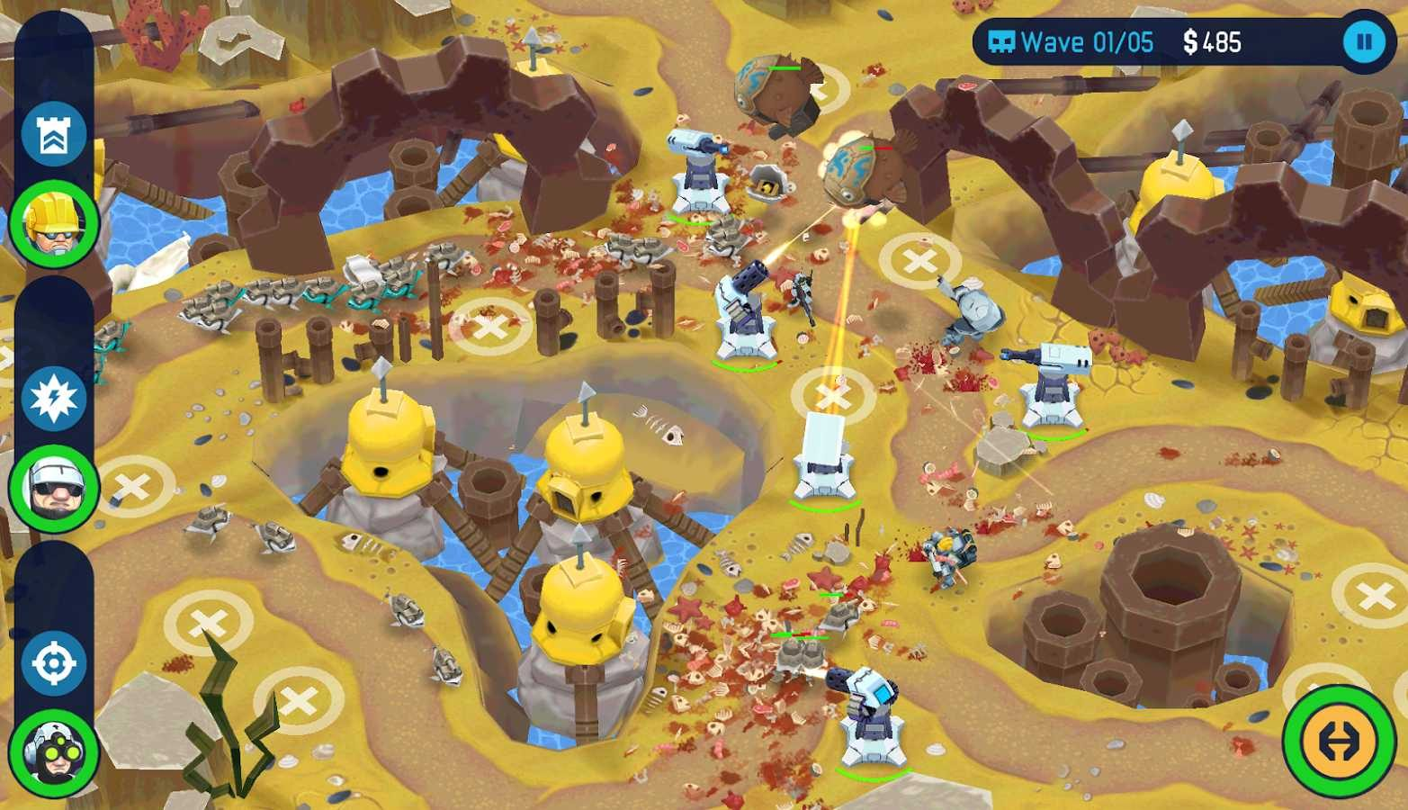 Over The Top Tower Defense, juego Android