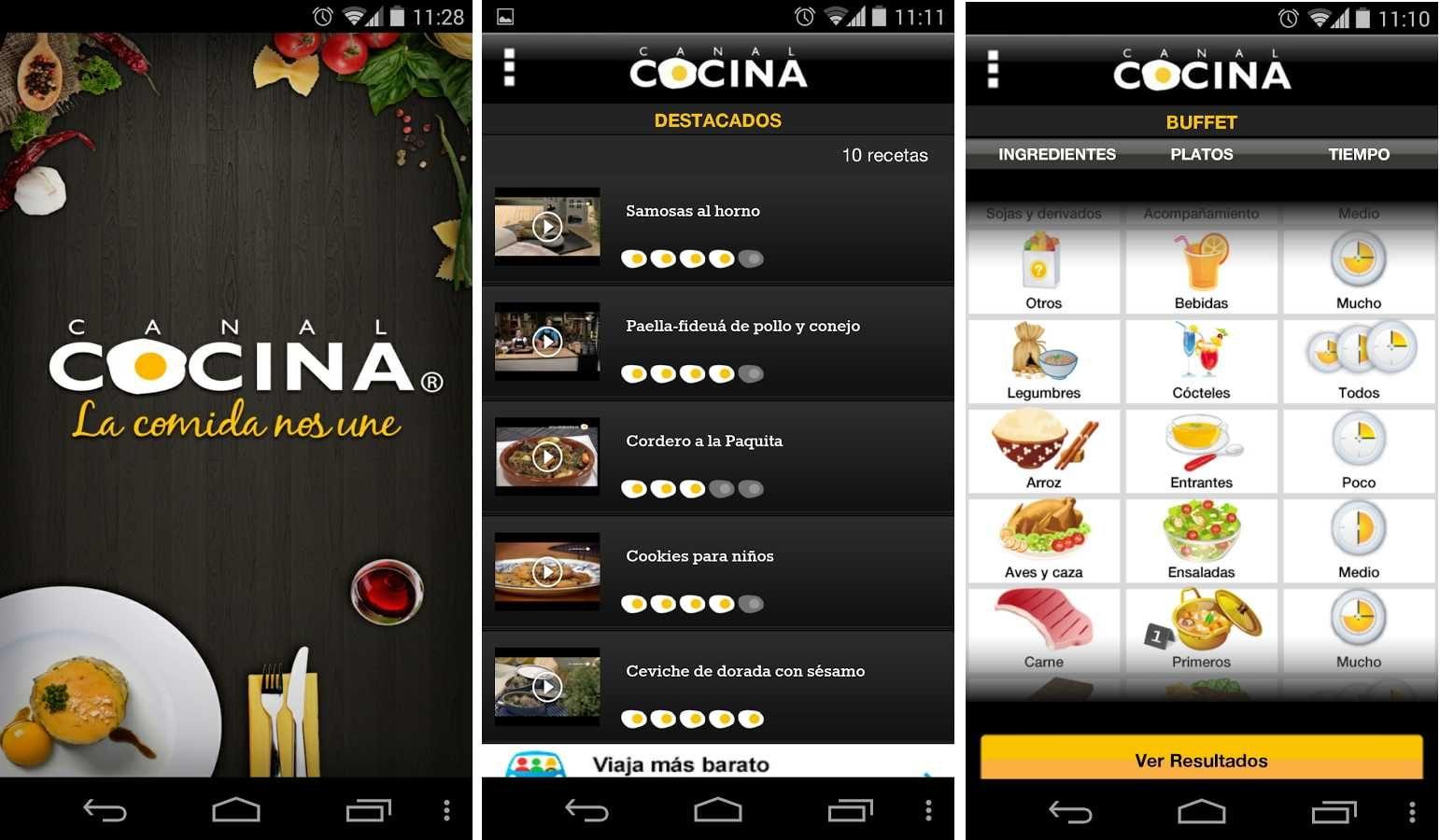 Recetas en Android con Canal Cocina