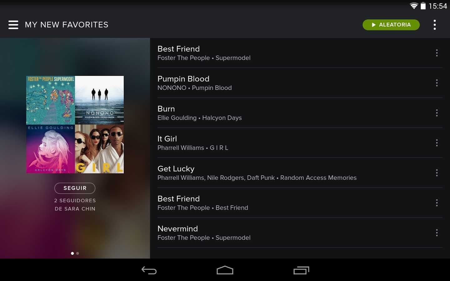 Spotify, radios Android